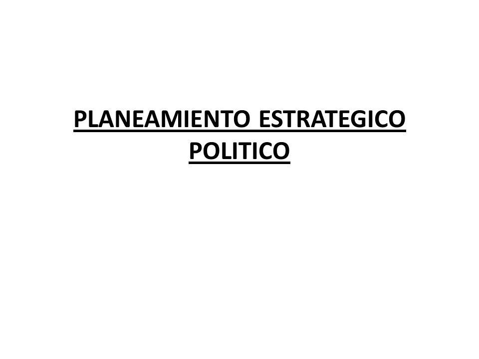 PLANEAMIENTO ESTRATEGICO POLITICO