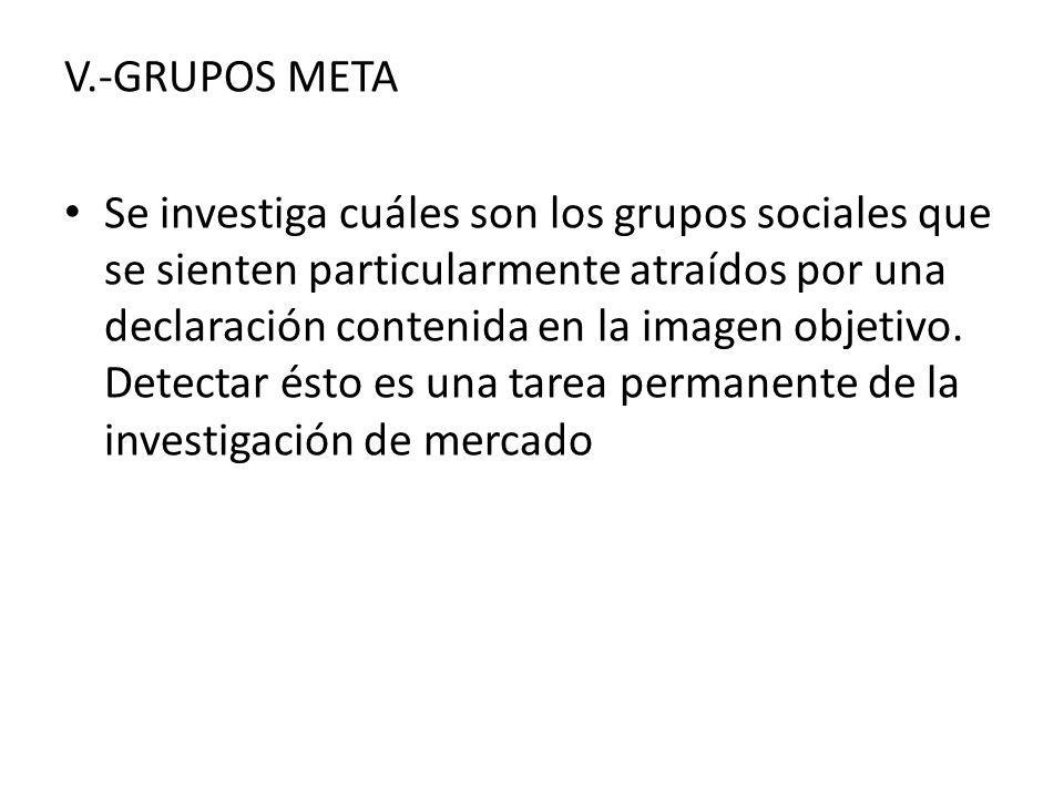 V.-GRUPOS META