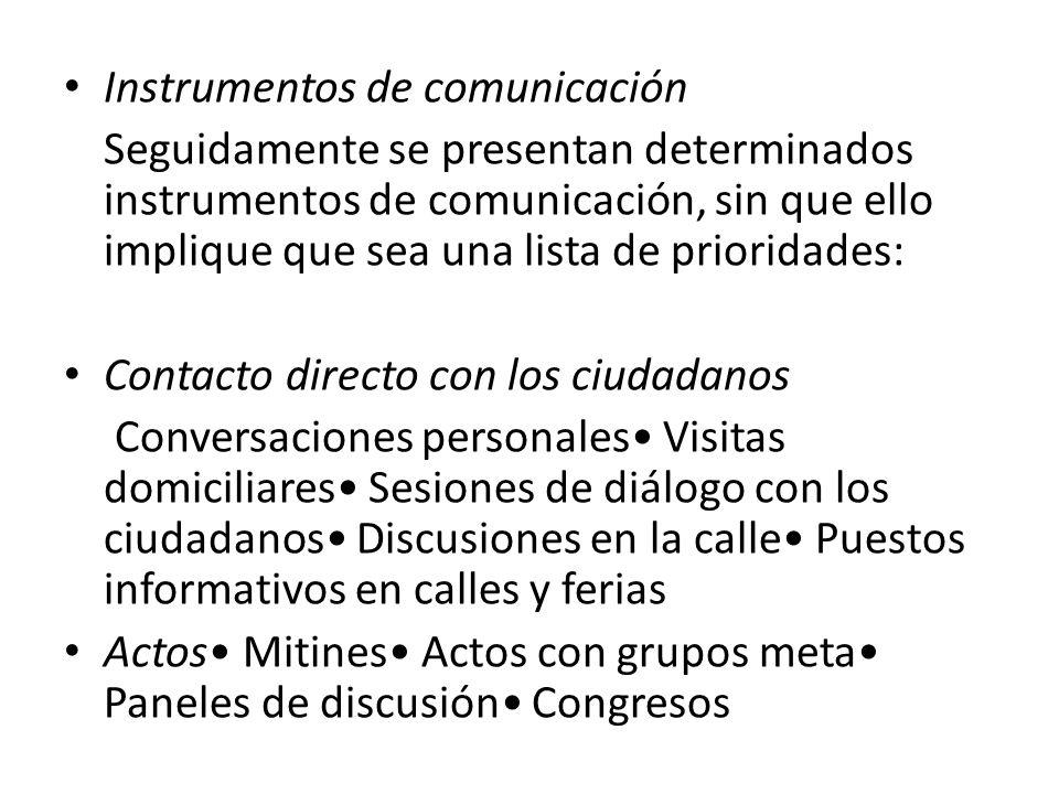 Instrumentos de comunicación