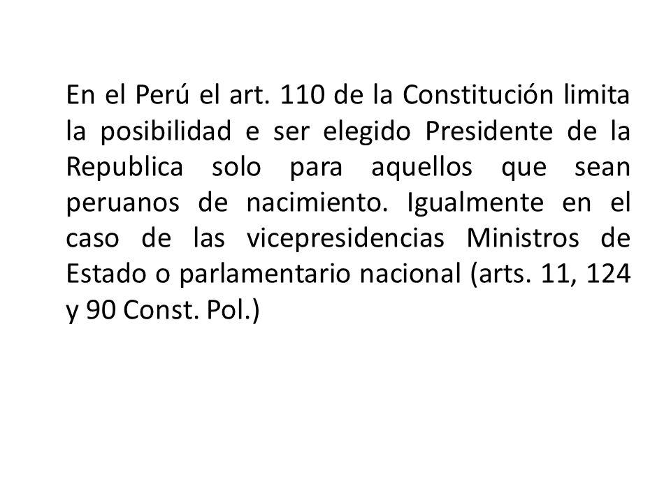En el Perú el art.