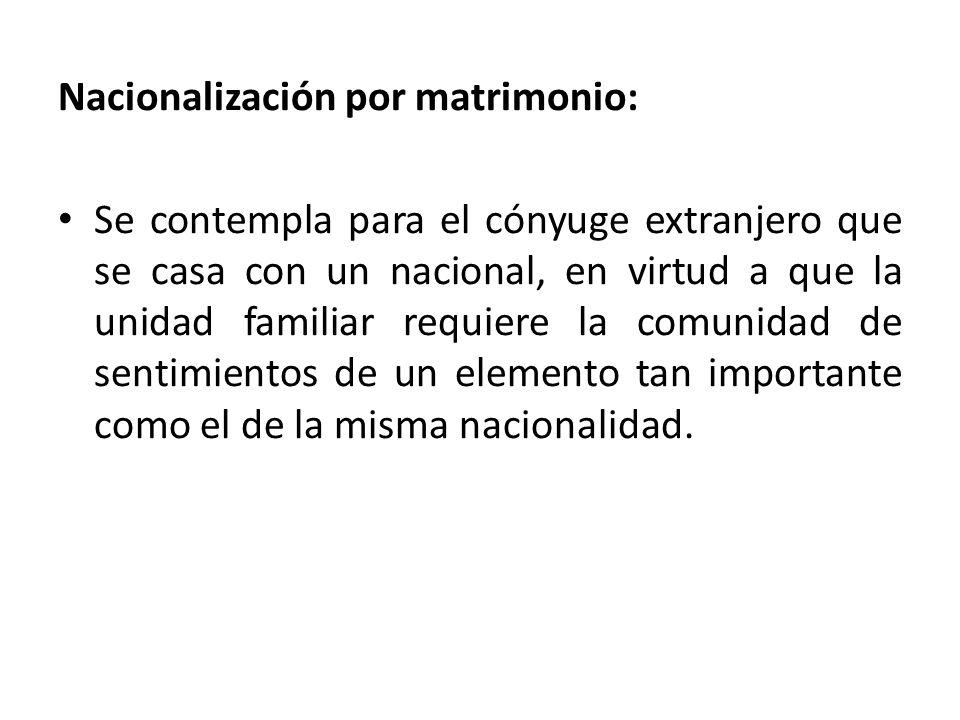 Nacionalización por matrimonio: