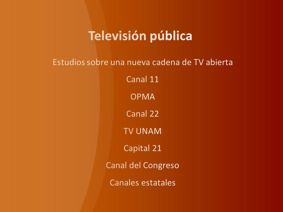 Estudios sobre una nueva cadena de TV abierta