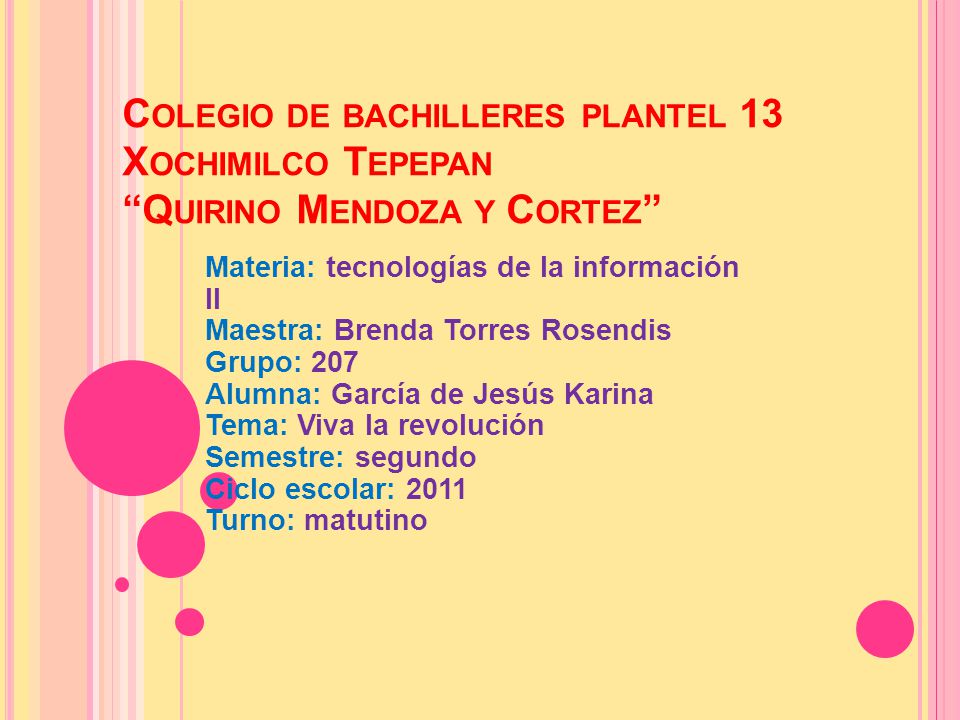 Colegio de bachilleres plantel 13 Xochimilco Tepepan Quirino Mendoza y Cortez