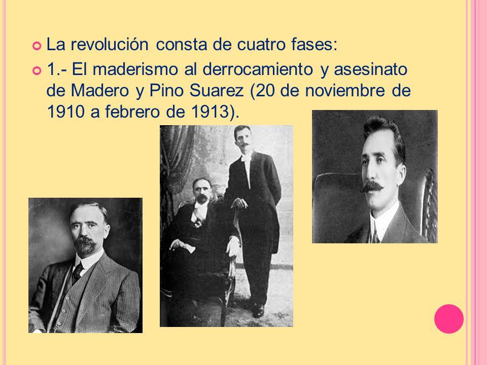 La revolución consta de cuatro fases: