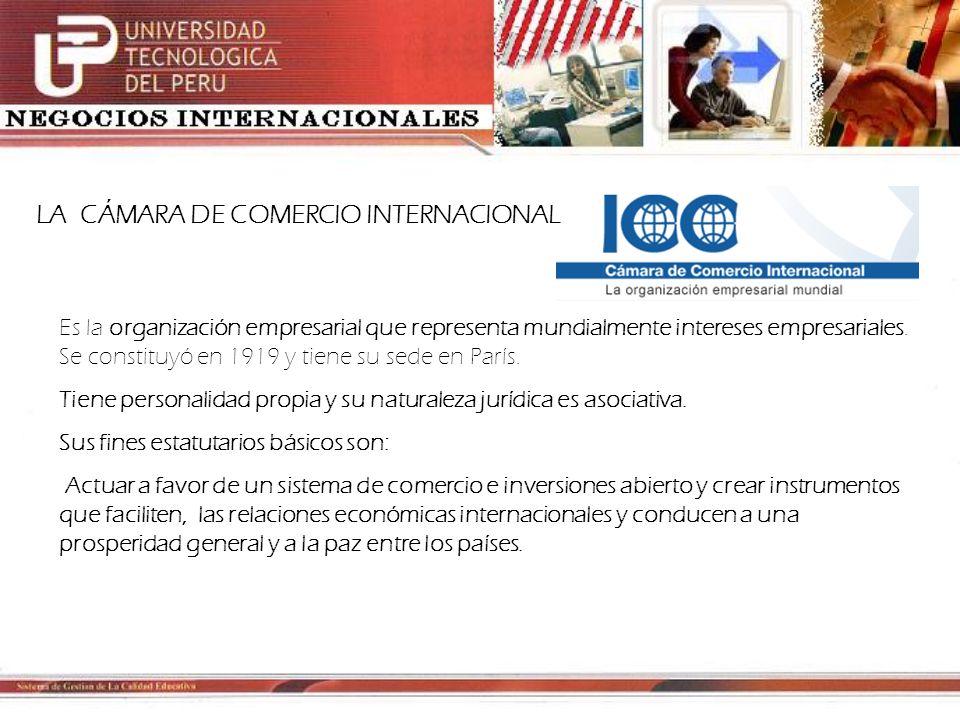 LA CÁMARA DE COMERCIO INTERNACIONAL