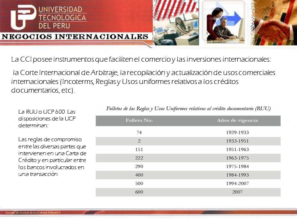 La CCI posee instrumentos que faciliten el comercio y las inversiones internacionales:
