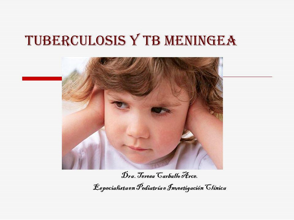 TUBERCULOSIS Y TB MENINGEA