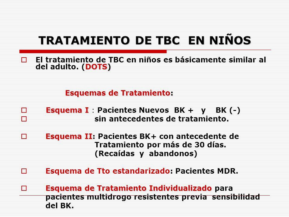 TRATAMIENTO DE TBC EN NIÑOS