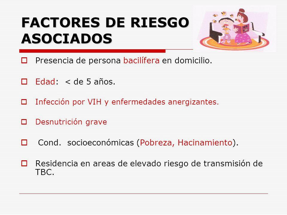 FACTORES DE RIESGO ASOCIADOS