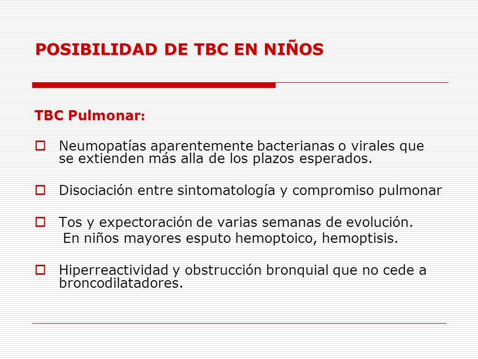 POSIBILIDAD DE TBC EN NIÑOS