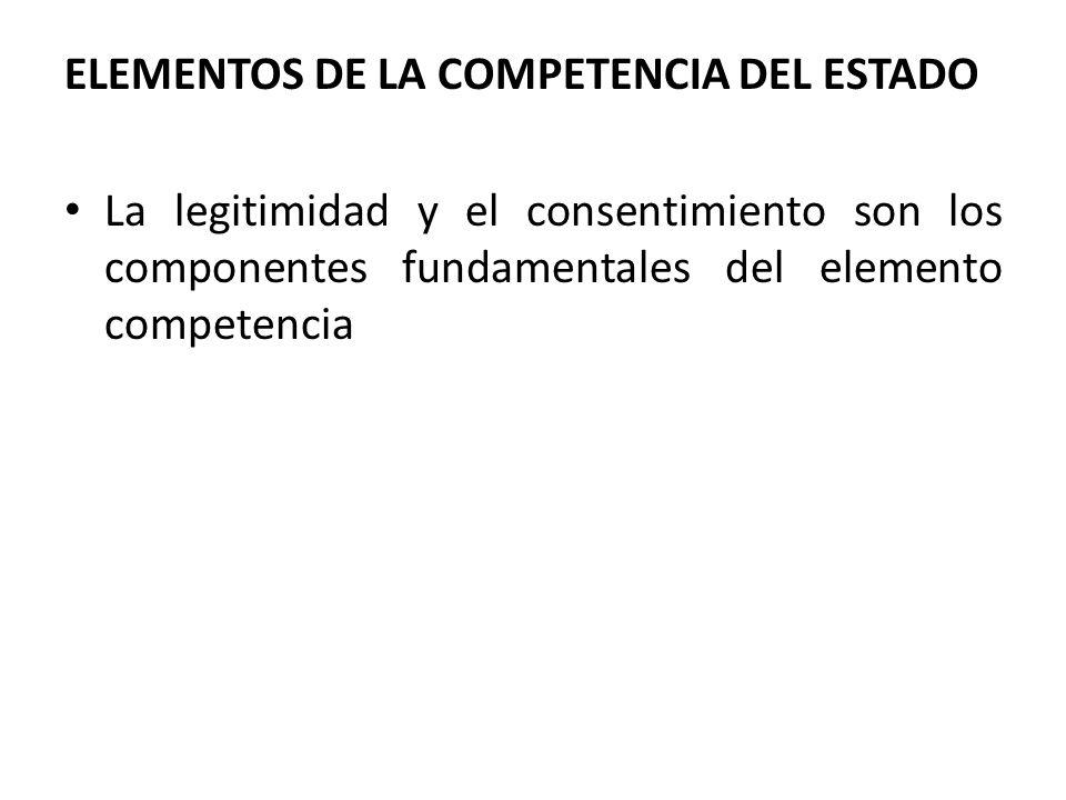 ELEMENTOS DE LA COMPETENCIA DEL ESTADO