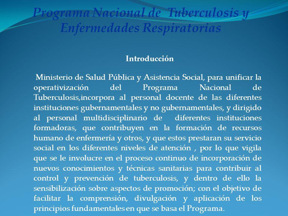 Programa Nacional de Tuberculosis y Enfermedades Respiratorias