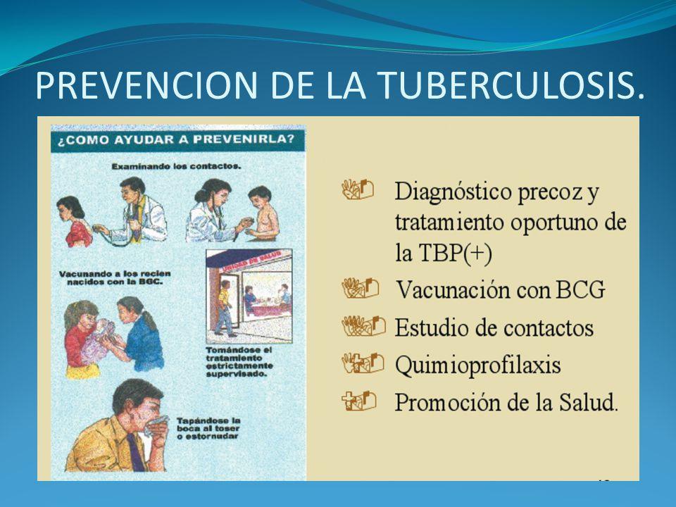 PREVENCION DE LA TUBERCULOSIS.