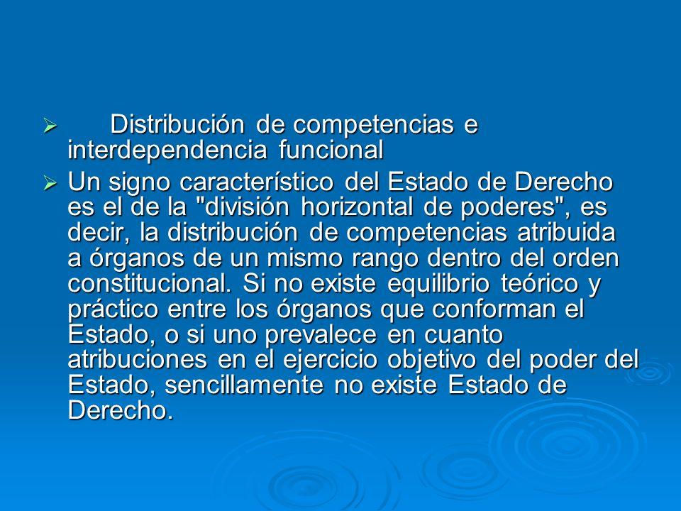 Distribución de competencias e interdependencia funcional