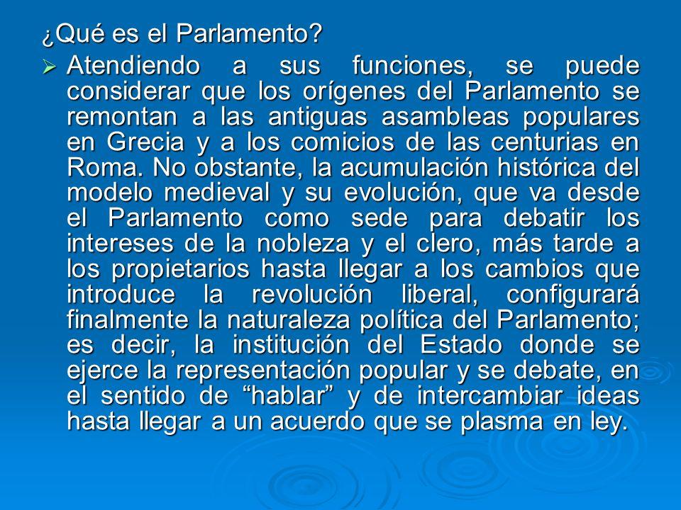 ¿Qué es el Parlamento