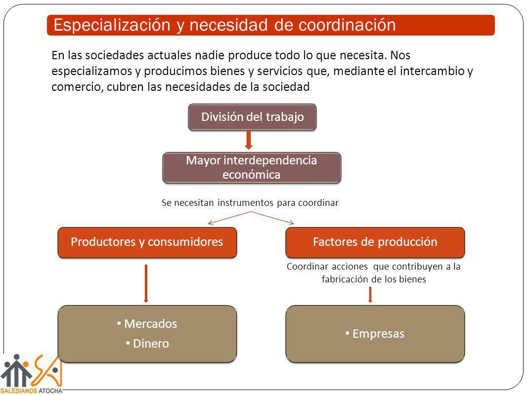 Especialización y necesidad de coordinación