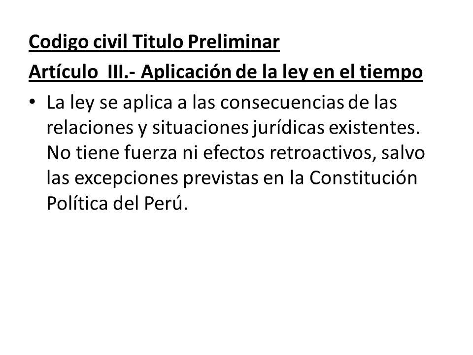 Codigo civil Titulo Preliminar
