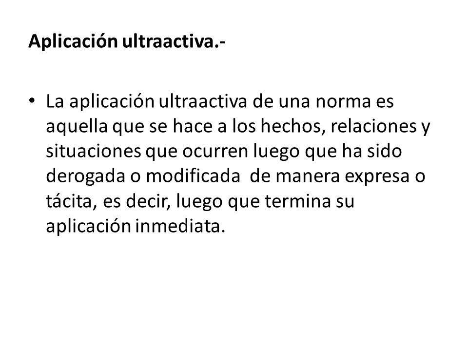 Aplicación ultraactiva.-