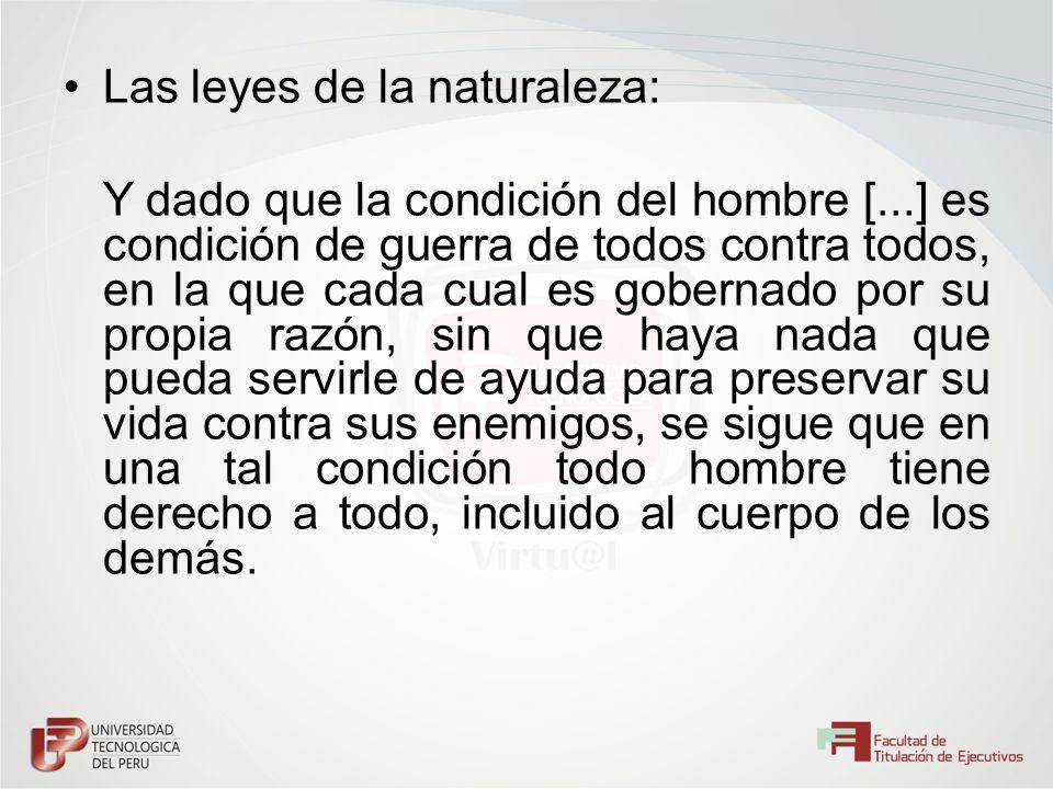 Las leyes de la naturaleza: