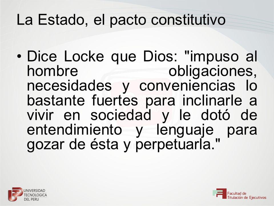 La Estado, el pacto constitutivo