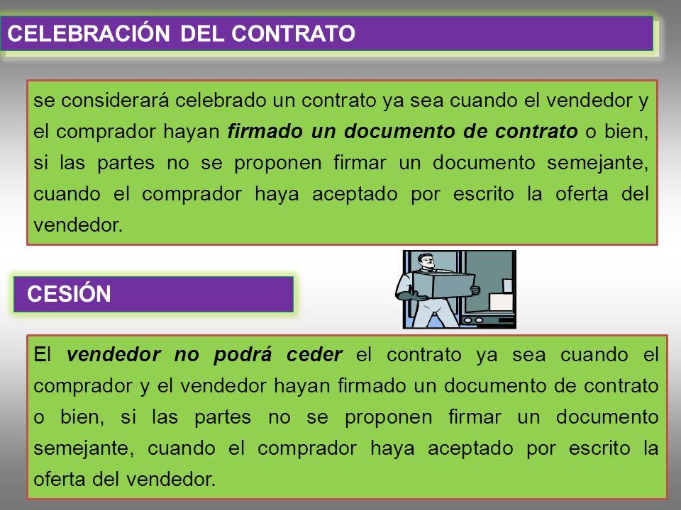 CELEBRACIÓN DEL CONTRATO