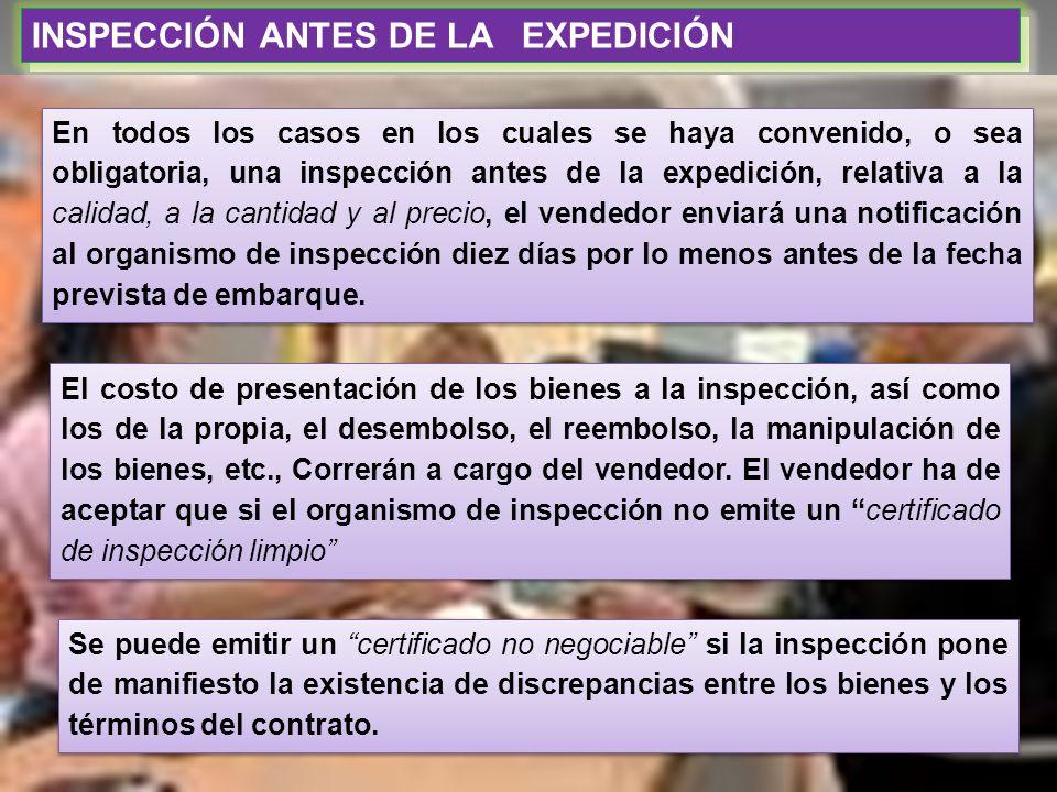 INSPECCIÓN ANTES DE LA EXPEDICIÓN