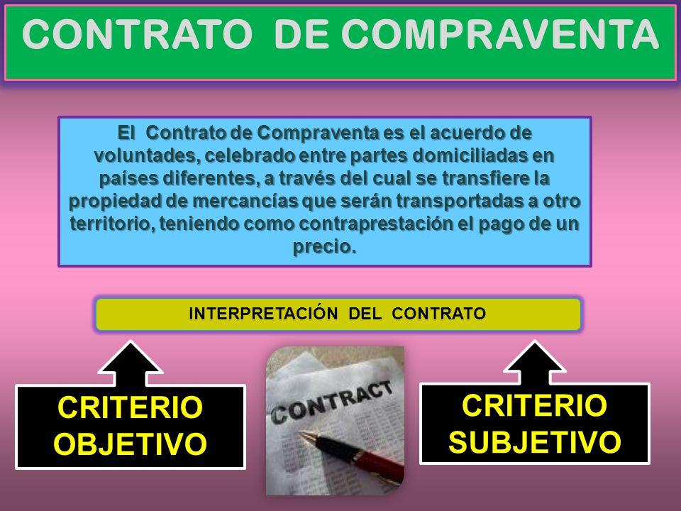 CONTRATO DE COMPRAVENTA INTERPRETACIÓN DEL CONTRATO