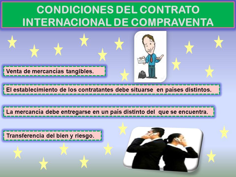 CONDICIONES DEL CONTRATO INTERNACIONAL DE COMPRAVENTA