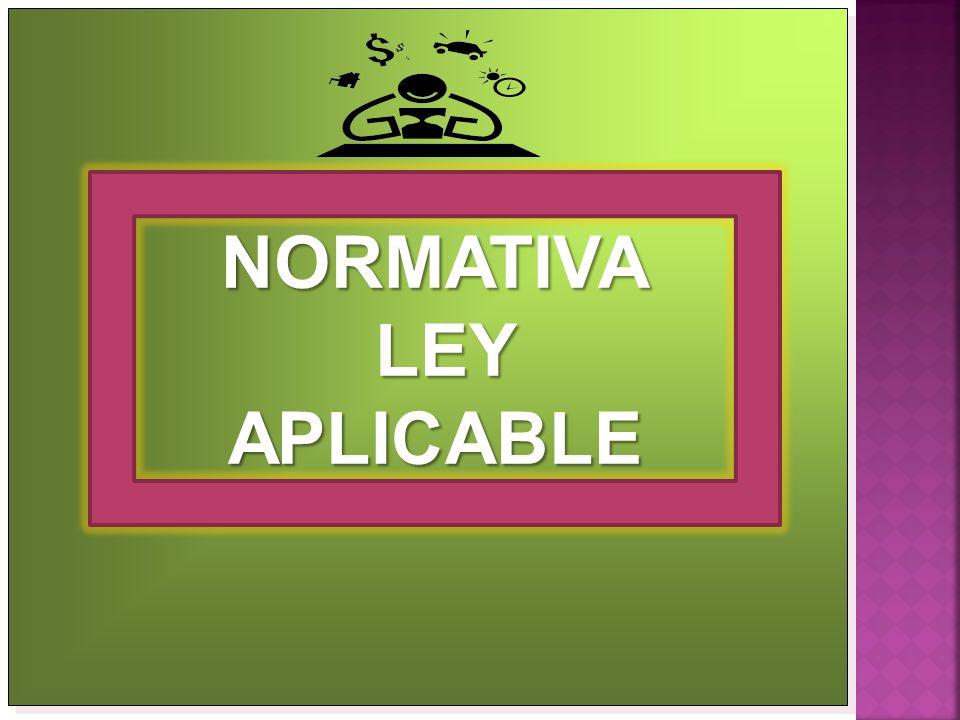 NORMATIVA LEY APLICABLE
