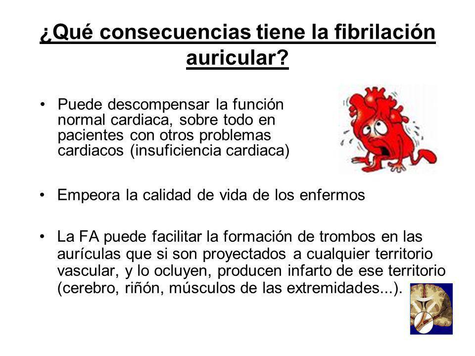 ¿Qué consecuencias tiene la fibrilación auricular