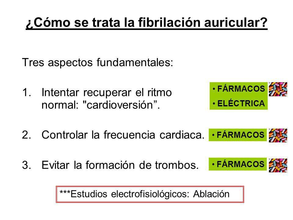 ¿Cómo se trata la fibrilación auricular