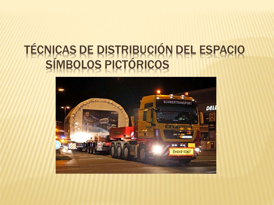 Técnicas de distribución del espacio Símbolos Pictóricos