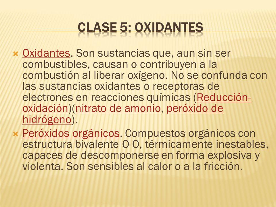 Clase 5: Oxidantes
