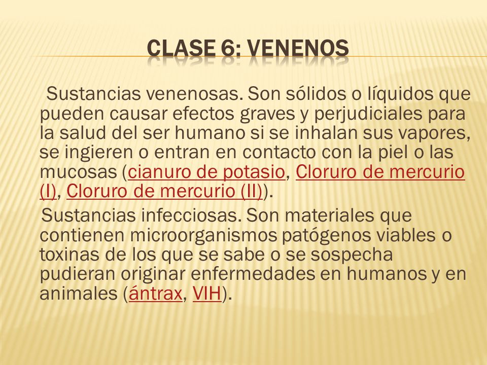 Clase 6: Venenos