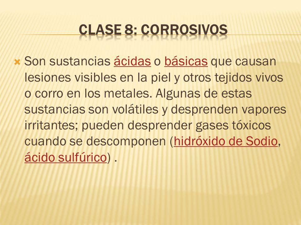 Clase 8: Corrosivos