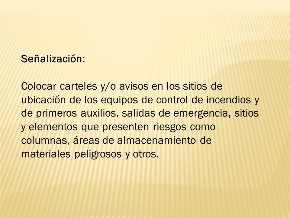 Señalización: