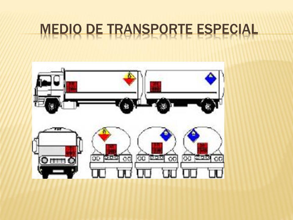 Medio de transporte especial