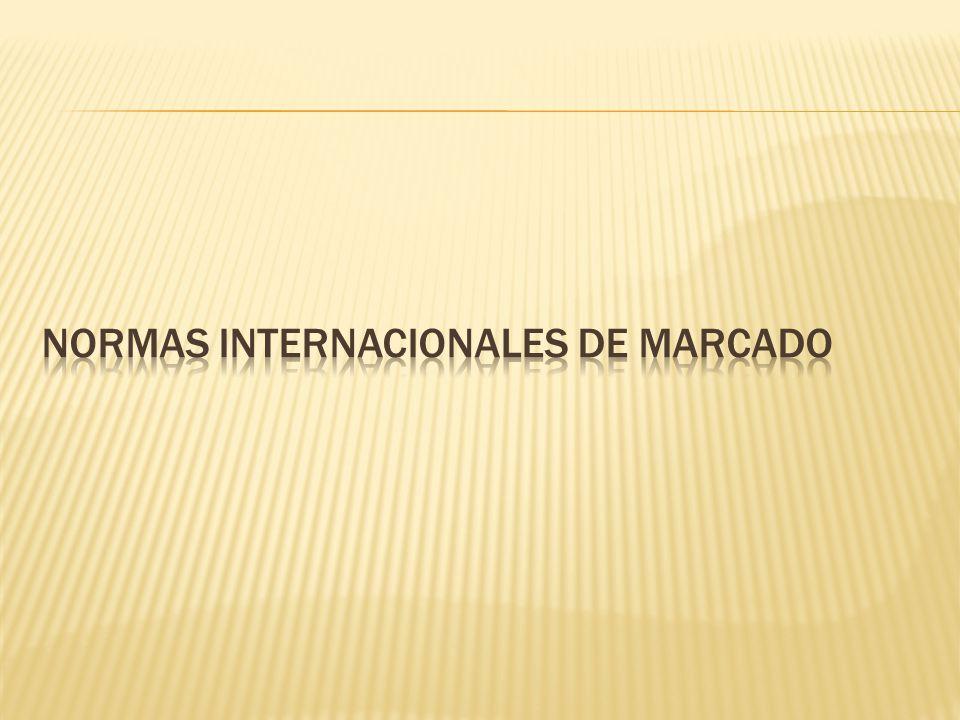 Normas internacionales de marcado