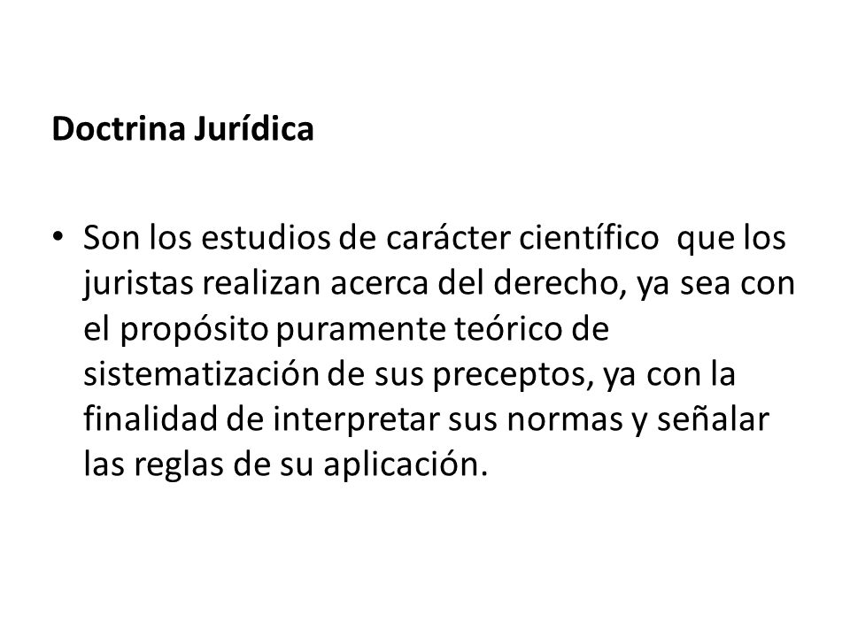 Doctrina Jurídica