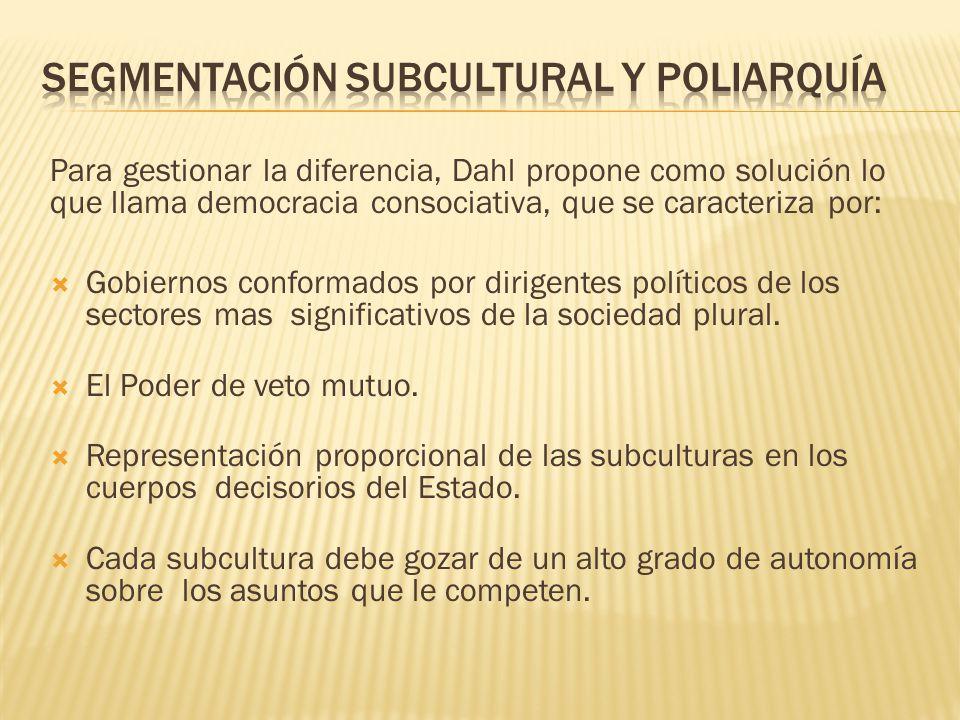 Segmentación subcultural y poliarquía