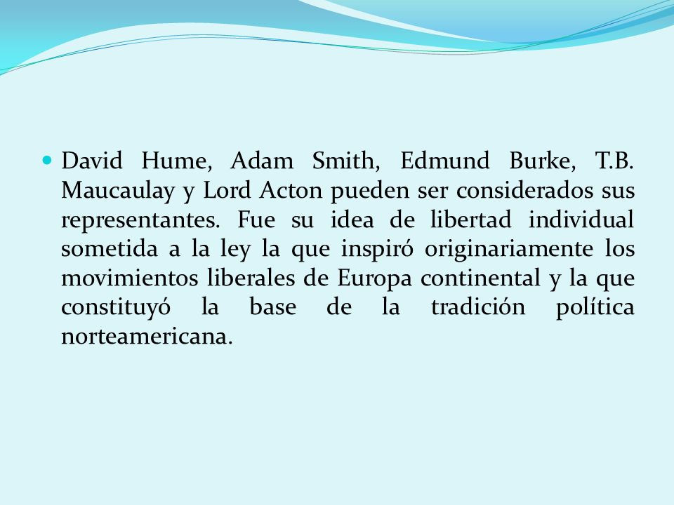 David Hume, Adam Smith, Edmund Burke, T. B