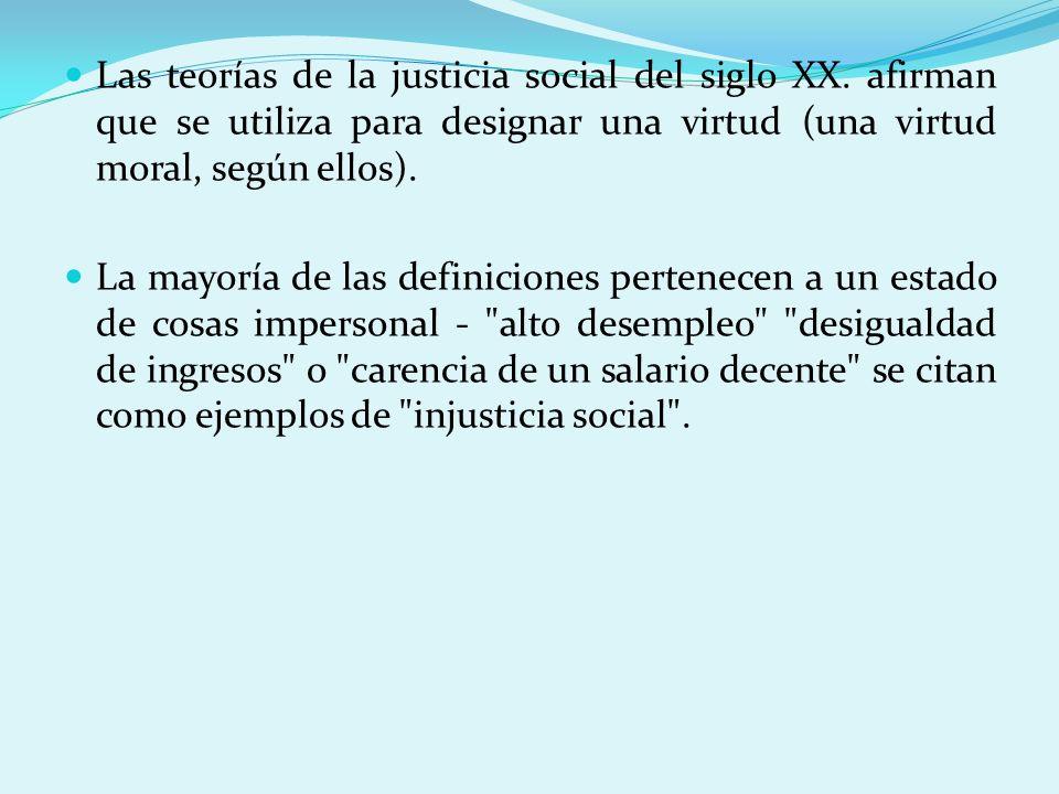Las teorías de la justicia social del siglo XX