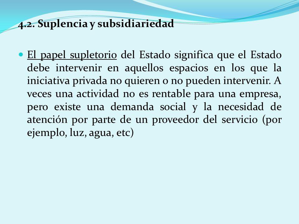 4.2. Suplencia y subsidiariedad