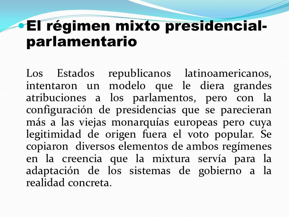 El régimen mixto presidencial-parlamentario