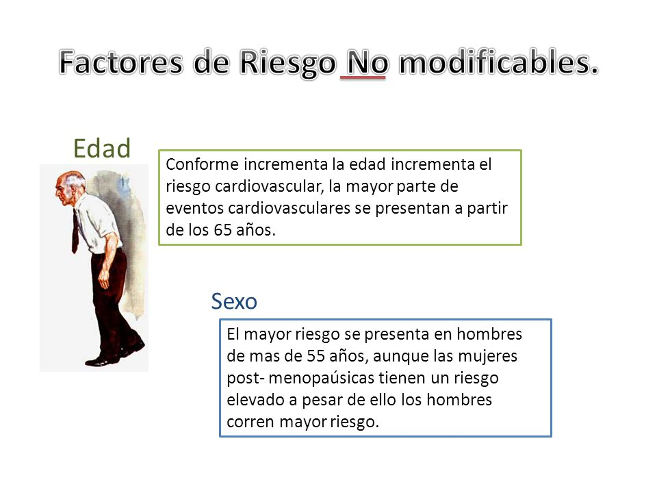 Factores de Riesgo No modificables.