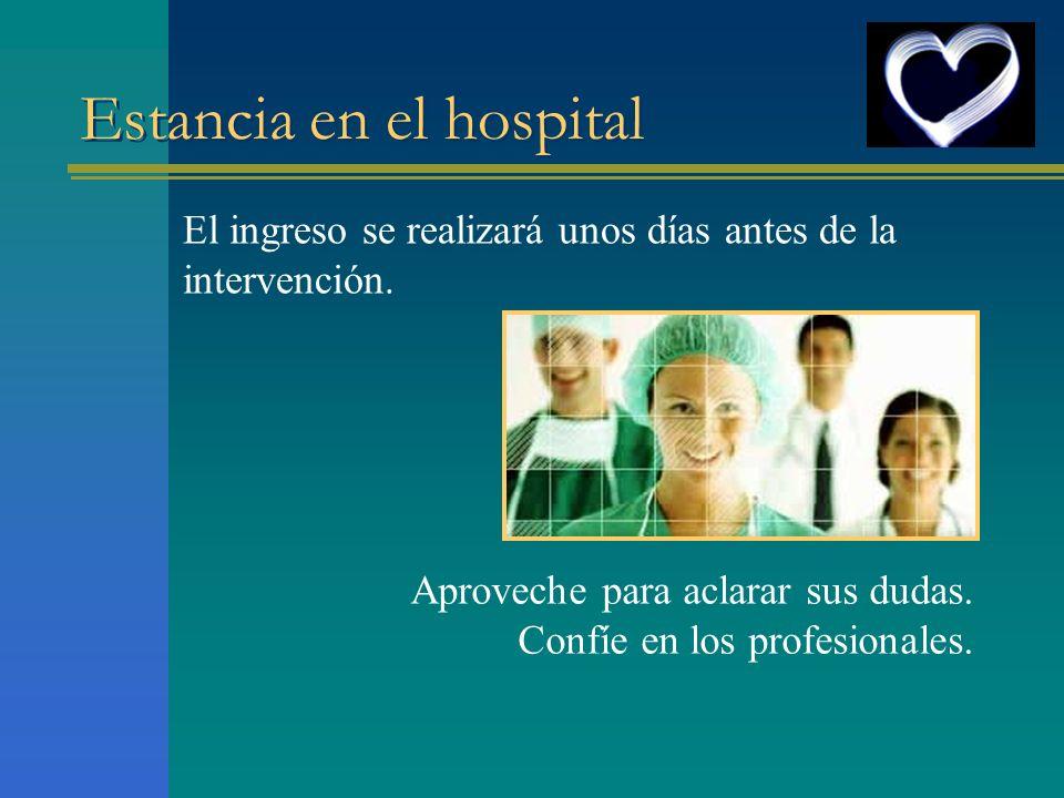 Estancia en el hospital