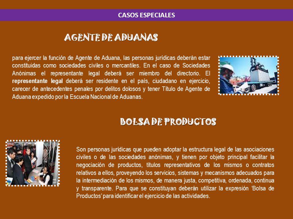AGENTE DE ADUANAS BOLSA DE PRODUCTOS