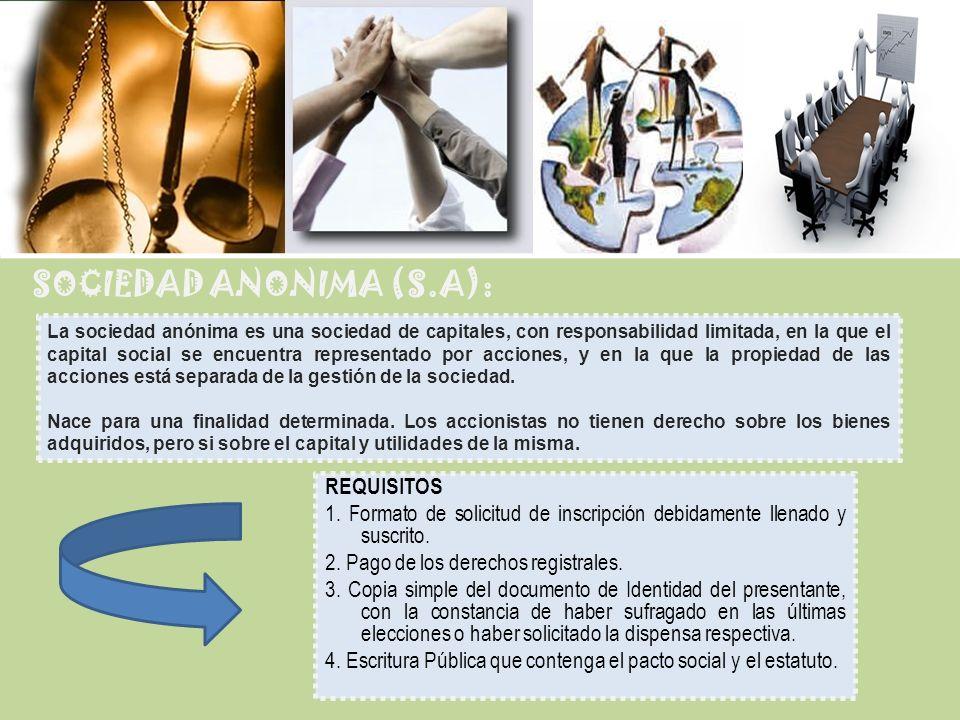 SOCIEDAD ANONIMA (S.A):