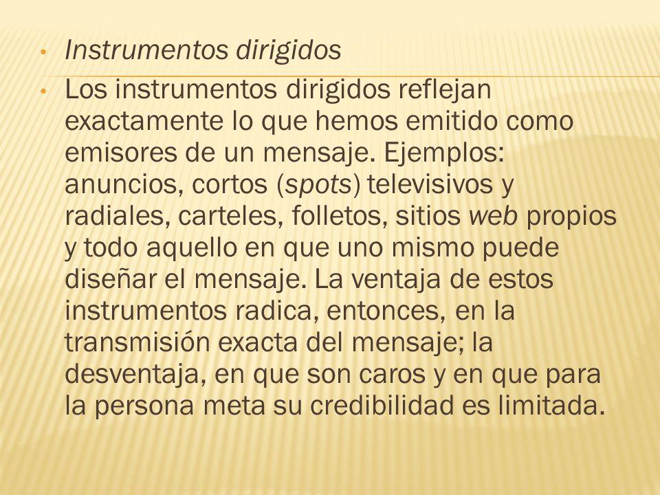 Instrumentos dirigidos