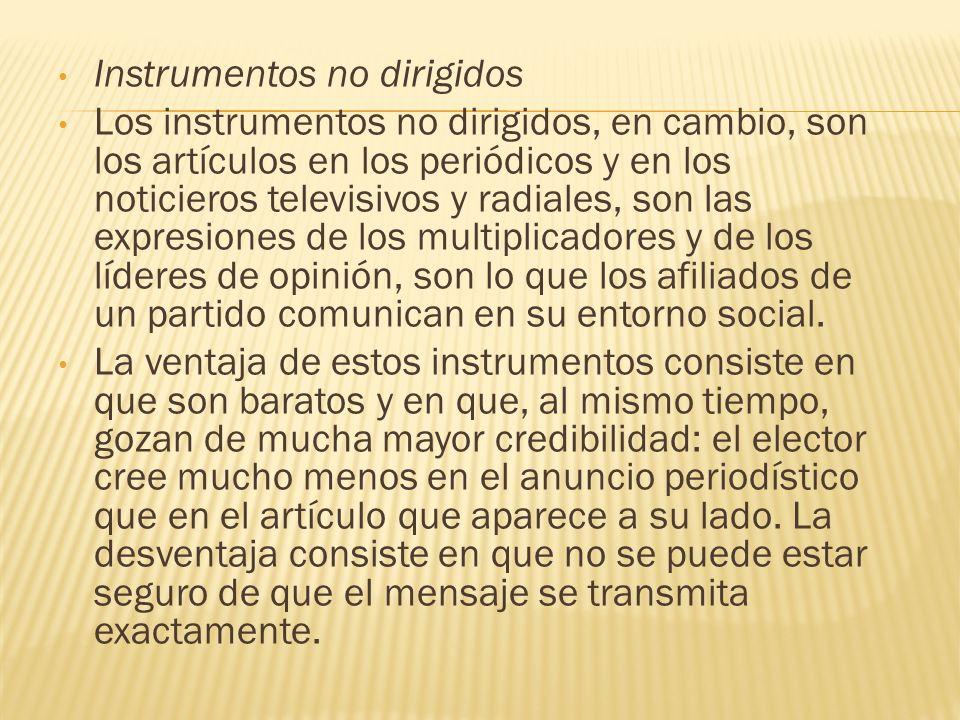 Instrumentos no dirigidos